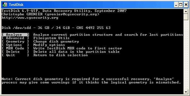 بازگردانی قدرتمند اطلاعات  تعمییر خرابی های هارد و مموری کارت با TestDisk