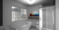مدل آماده حمام مدرن