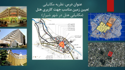 پاورپوینت مکان یابی هتل در شهر شیراز